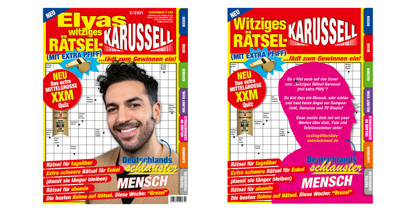 Witziges Rätsel Karussell